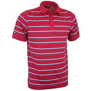 Callaway � 2015 Callaway Regimental Stripe Mens Golf Polo Shirt Granita Large