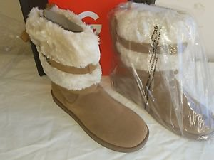 G by GUESS Womens Asick Faux Fur Round Toe Mid-Calf Cold Weather Boot  9M