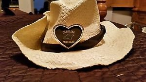 NFL Carolina Panthers Women's Crystal Cowgirl Hat, Natural