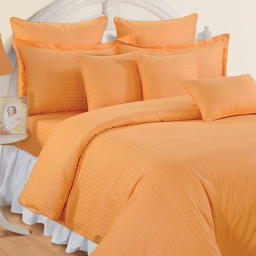 1000 TC EGYPTIAN COTTON  MANGO PULP STRIPED DOUBLE BED SHEET SET