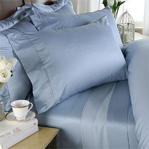 1000 TC EGYPTIAN COTTON  KING SIZE SOLID BED SHEET SET
