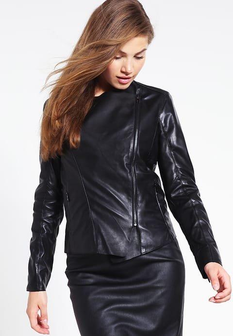 leather jacket motorcycle womans real lambskin black biker slimfit S M L BJ1012