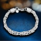 NEW! 925 Sterling Silver Jewelry Fashion  Chain Bangle Bracelet .