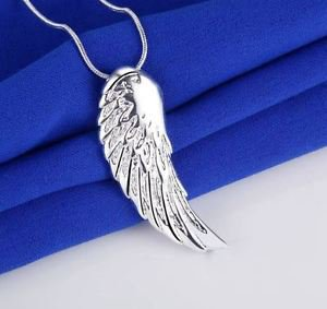 925 Sterling Silver Fashion Jewelry Pendant Angel Wing & Necklace18,20,22 in.