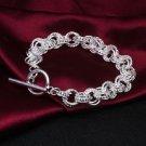 925 Sterling Silver Fashion Jewelry Bracelet Toggle.
