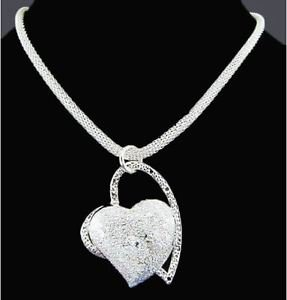 925 Silver Fashion Jewelry, Heart Pendant with luxury Necklace.
