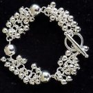 NEW! 925 Sterling Silver Fashion Jewelry Bracelet Silver Balls.