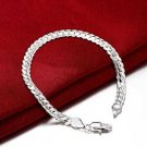 925 Sterling Silver Fashion Jewelry 5mm Curb Chain Bracelet.