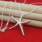 925 Sterling Silver Fashion jewelry, Pendant Sea Star with Necklace18,20,22 in