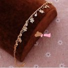 Foot Jewelry Fashion Women 18k Gold Plated Anklet & Crystals.