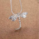 925 Sterling Silver Fashion Jewelry Dragonfly Pendant & Chain 18,20 ,22 in.