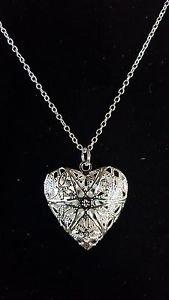 925 Sterling Silver  Fashion Jewelry Heart Locket Pendant & Chain18,20,22 in.