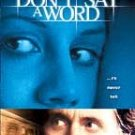 Don't Say A Word [VHS]