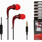 Universal Earphone (IV7Red), Volume Control, Mike with noise-isolation and enhan