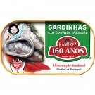 Hot Can of Portuguese Sardines in Spicy Tomato 125 Grs