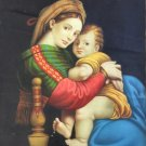 "Hand painted oil painting on canvas""Blessed Virgin and son""50x70CM(19.7""x27.6"")Unframed-01"
