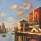 """European style Hand painted oil painting on canvas""""Venice""""80x80CM(31.5x31.5inch)Unframed-04"""