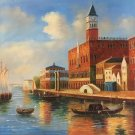 """European style Hand painted oil painting on canvas""""Venice""""80x80CM(31.5x31.5inch)Unframed-05"""