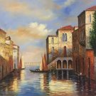 """European style Hand painted oil painting on canvas""""Venice""""80x80CM(31.5x31.5inch)Unframed-06"""