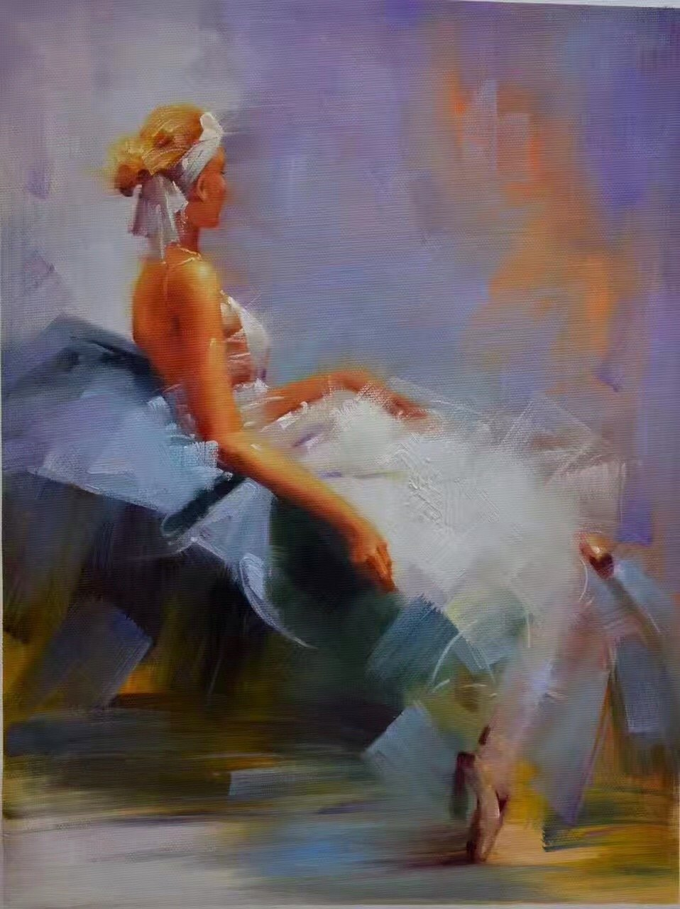 """Simple modern Hand painted oil painting on canvas""""nude woman""""75x100CM(29.5""""x39.4"""")Unframed-04"""