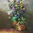"""Simple modern Hand painted oil painting on canvas""""Flowers""""60x80CM(23.6""""x31.5"""")Unframed-02"""