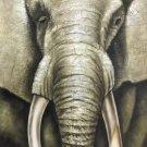 "Simple modern Hand painted oil painting on canvas""Elephant""55x105CM(21.7""x41.3"") Unframed-01"