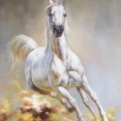 """Simple modern Hand painted oil painting on canvas""""Akhal-teke horses""""60x90CM(23.6""""x35.4"""")Unframed-07"""