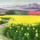 """American style oil painting on canvas""""Image of the countryside""""60x120CM(23.6""""x47.2"""")Unframed-01"""