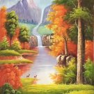 "American style Hand painted oil painting on canvas""Creek""60x120CM(23.6""x47.2"")Unframed-21"