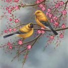 "Simple modern Hand painted oil painting on canvas""Cute bird""50x60CM(19.7""x23.6"")Unframed-06"