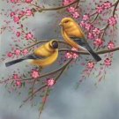 "Simple modern Hand painted oil painting on canvas""Cute bird""50x60CM(19.7""x23.6"")Unframed-12"