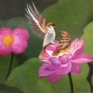 "Simple modern Hand painted oil painting on canvas""Cute bird""50x60CM(19.7""x23.6"")Unframed-14"
