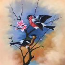 "Simple modern Hand painted oil painting on canvas""Cute bird""50x60CM(19.7""x23.6"")Unframed-16"