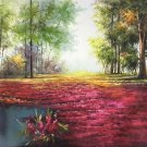 "Nordic style Hand painted oil painting on canvas""forest""60x120CM(23.6""x47.2"")Unframed-03"