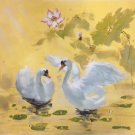 """Chinese style Hand painted oil painting on canvas""""swan""""50x60CM(19.7""""x23.6"""")Unframed-02"""