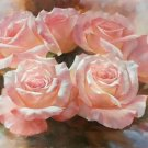 """American style Hand painted oil painting on canvas""""Lover roses""""60x90CM(23.6""""x35.4"""")Unframed-02"""