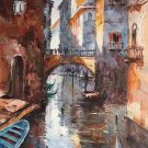 "European style Hand painted oil painting on canvas""Venice""60x90CM(23.6""x35.4"")Unframed-09"