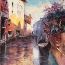 "European style Hand painted oil painting on canvas""Venice""60x90CM(23.6""x35.4"")Unframed-11"