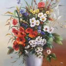 """Simple modern Hand painted oil painting on canvas""""Flowers""""60x80CM(23.6""""x31.5"""")Unframed-09"""