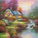 """European style Hand-painted oil painting on canvas""""mind home""""50x60CM(19.7""""x23.6"""")Unframed-05"""