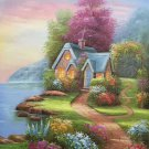 """European style Hand-painted oil painting on canvas""""mind home""""50x60CM(19.7""""x23.6"""")Unframed-07"""