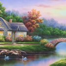 """European style Hand-painted oil painting on canvas""""mind home""""70x180CM(27.6""""x70.9"""")Unframed-02"""