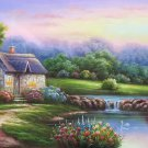 """European style Hand-painted oil painting on canvas""""mind home""""70x180CM(27.6""""x70.9"""")Unframed-05"""