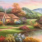 """European style Hand-painted oil painting on canvas""""mind home""""70x180CM(27.6""""x70.9"""")Unframed-14"""