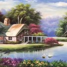 """European style Hand-painted oil painting on canvas""""mind home""""70x180CM(27.6""""x70.9"""")Unframed-15"""
