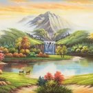 """American style Hand painted oil painting on canvas""""Creek""""70x180CM(27.6""""x70.9"""")Unframed-23"""