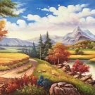 """American style Hand painted oil painting on canvas""""Creek""""70x180CM(27.6""""x70.9"""")Unframed-25"""