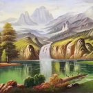 """American style Hand painted oil painting on canvas""""Creek""""70x180CM(27.6""""x70.9"""")Unframed-29"""