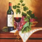 "handpainted oil painting on canvas Art Decor""Grape wine""50x60CM(19.7""x23.6"")Unframed-35"
