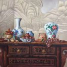 "Chinese style Hand painted oil painting on canvas""ceramics""75x100CM(29.5""x39.4"")Unframed-07"